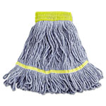 Unisan Super Loop Wet Mop Heads, Cotton/Synthetic, Small Size, Blue
