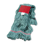 Unisan Super Loop Wet Mop Head, Cotton/Synthetic, Large Size, Green