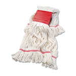 Unisan Super Loop Wet Mop Head, Large Size, Cotton/Synthetic Yarn, White