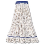 Boardwalk Mop Head, Super Loop Head, Cotton/Synthetic Fiber, X-Large, White, 12/Carton