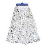 Boardwalk Mop Head, Lie-Flat Head, Rayon Fiber, 24oz, White, 12/Carton