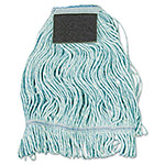 Boardwalk Mop Head, Loop-End, Cotton With Scrub Pad, Medium, 12/Carton
