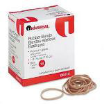 Universal Boxed Rubber Bands, Size 14, Approximately 590, 1/4 lb. Box