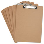 "Universal Clipboard, 1/2"" Capacity, Holds 8-1/2w x 12h, Brown, 6/Pack"