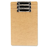 "Universal Recycled Clipboard, 1/2"" Capacity, Holds 8-1/2w x 14h, Brown, 3/Pack"