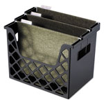 Universal Recycled Plastic Desktop File Holder, 13 1/4w x 8 5/8d x 10 3/4h, Black