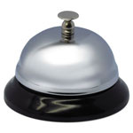 "Advantus Call Bell, 3-3/8"" Diameter, Brushed Nickel"