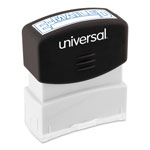 "Universal Pre-Inked ""E-MAILED"" Message Stamp, 9/16 x 1 11/16, Blue"