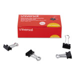 "Universal Small Binder Clips, Steel Wire, 3/8"" Capacity, 3/4"" Wide, Black/Silver, 36/Pack"