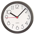"Universal 6"" Diameter Cubicle Clock, Black Case"
