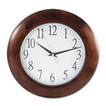 Universal Round Wood Clock, 12-3/4in, Cherry