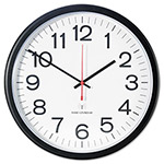Universal Indoor/Outdoor Clock, Atomic, 13-1/2in, Black
