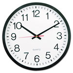 "Universal 12 1/2"" Round Wall Clock, Black Case"