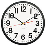 "Universal Large Numeral Clock, 13"", Black"