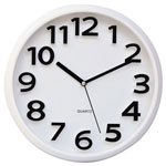 Universal Round Wall Clock, White, 13""