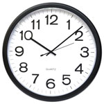 "Universal 12"" Wall Clock, Black Case"