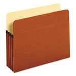 "Universal Redrope Recycled File Pockets, Letter Size, 3 1/2"" Exp., 25/Box"