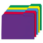 Universal Colored File Folder, 1/3 Cut Assorted, Two-Ply Top Tab, Ltr, Assorted, 100/Box