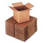"Universal Shipping Cartons, 200 lb. Corrugated Kraft, 6"" x 6"" x 6"""