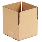 "Universal Kraft Corrugated Shipping Boxes, 6"" x 6"" x 4"""