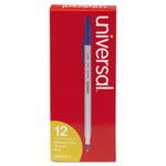 Universal Economy Ballpoint Pen, Medium Point, Blue Ink, Dozen