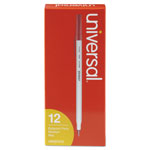 Universal Economy Ballpoint Pen, Medium Point, Red Ink, Dozen