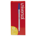 Universal Economy Ballpoint Pen, Fine Point, Blue Ink, Dozen