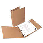 "Universal 100% Recycled Eco-Friendly Round Ring Binder, 1"" Capacity, Brown"