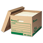 Universal Recycled Record Storage Boxes, Letter/Legal, 15 x 12 x 10, Kraft, 4/Carton