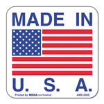 "Universal ""Made in USA"" Self-Adhesive Shipping Labels, 1 x 1, 500 per Roll"