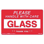 "Universal ""Glass Handle with Care"" Self-Adhesive Shipping Labels, 3 x 5, 500 per Roll"