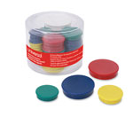 Universal Assorted Magnets, Assorted Sizes, Assorted Colors, 30/Pack