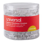 "Universal Clear Push Pins, Plastic, 3/8"", 400/Pack"