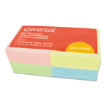 Universal Standard Self Stick Pastel Regular 3x3 Notes, Assorted, 12 100 Sheet Pads/Pack