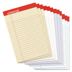 "Universal Fashion Colored Perforated Ruled Writing Pads, Narrow, 5"" X 8"", 50 Sheets, 1dz"
