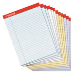 Universal Fashion Colored Perforated Ruled Writing Pads, Narrow, 8 1/2x11, 50 Sheets, 1 Dz