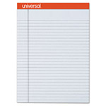 Universal Fashion-Colored Perforated Note Pads, 8 1/2 x 11, Legal, Gray, 50 Sheets, 6/Pack