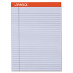 Universal Fashion-Colored Perforated Note Pads, 8 1/2 x 11, Legal, Orchid, 50 Sheets, 6/PK