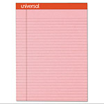 Universal Fashion-Colored Perforated Note Pads, 8 1/2 x 11, Legal, Pink, 50 Sheets, 6/Pack