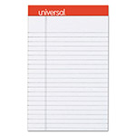 Universal Fashion-Colored Perforated Note Pads, 5 x 8, Legal, Gray, 50 Sheets, 6/Pack