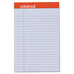 Universal Fashion-Colored Perforated Note Pads, 5 x 8, Legal, Orchid, 50 Sheets, 6/Pack