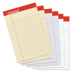 "Universal Fashion Colored Perforated Ruled Writing Pads, Narrow, 5"" X 8"", 50 Sheets,6/pack"