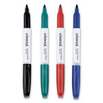Universal Pen Style Dry Erase Markers, Four Color Set, Bullet Point