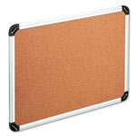 Universal Cork Board with Aluminum Frame, 48 x 36, Natural, Silver Frame