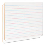 "Universal Lap/Learning Dry-Erase Board, 12"" x 9"", White, 6/Pack"