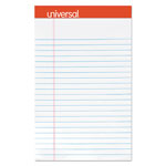 Universal Perforated Edge Writing Pad, Jr. Legal Rule, 5 x 8, White, 50-Sheets