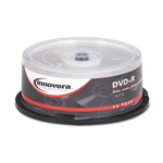 Universal DVD+R Recordable Discs on Spindle, 4.7 GB, Silver, 25/Pack
