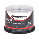 Universal DVD-R Discs, 4.7GB, 16x, Spindle, Silver, 50/Pack