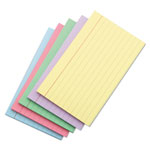 Universal Index Cards, 3 x 5, Blue/Salmon/Green/Cherry/Canary, 100/Pack