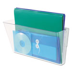 Universal Add On Pocket for Three Pocket Wall File, Letter Size, Clear